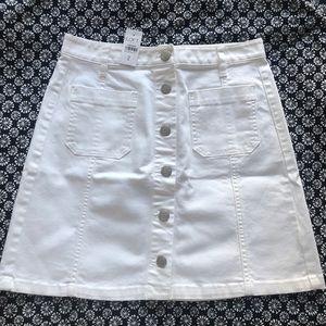 LOFT White Denim Skirt - Size 2